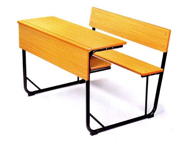 双人木课桌椅