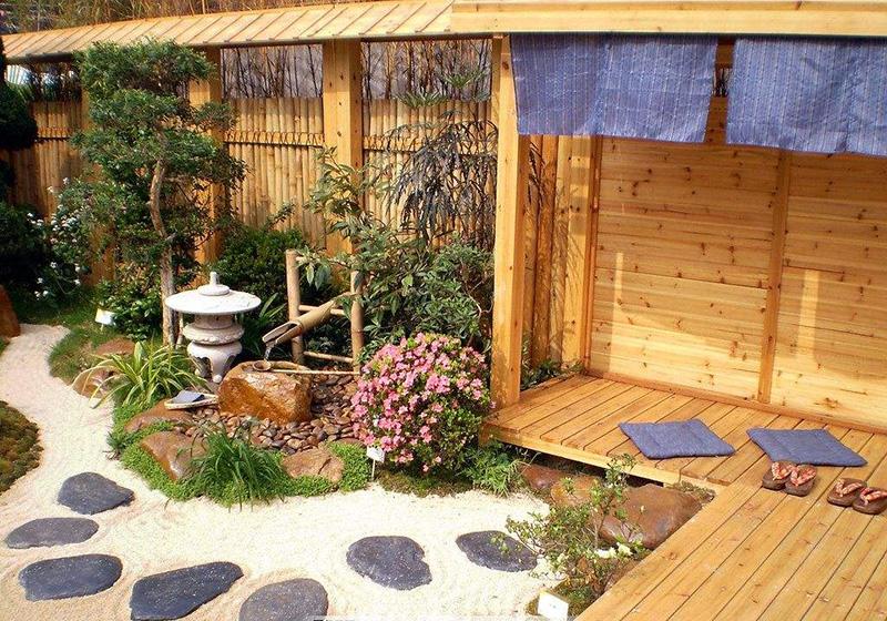 日式花园景观