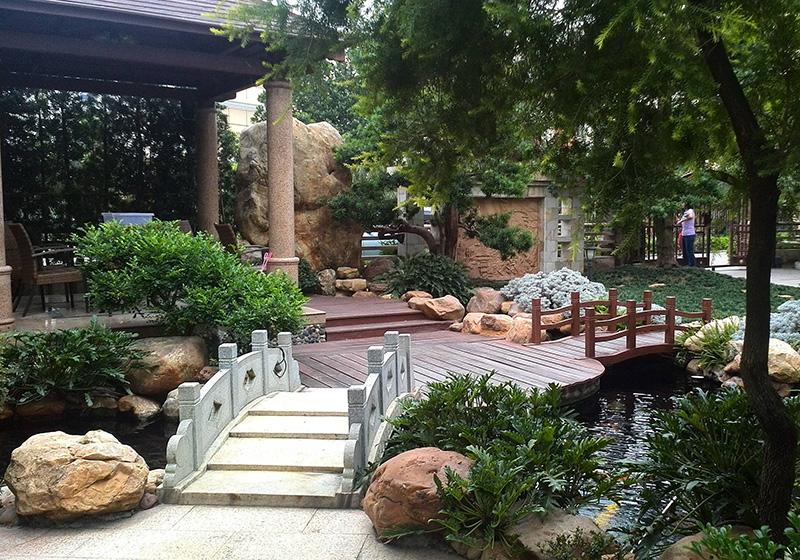 中式別墅花園