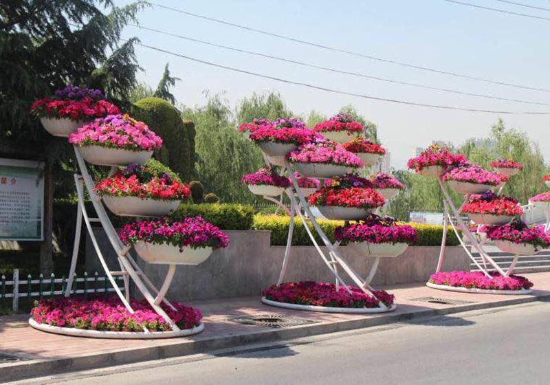 节庆立体花坛