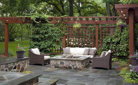 收集完工的庭院花園照片