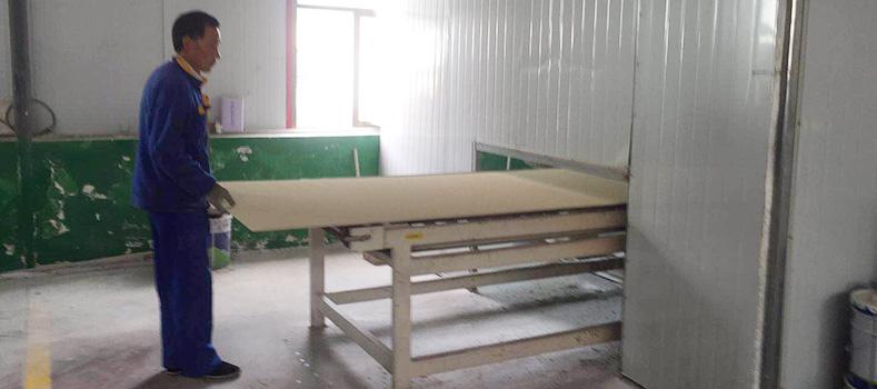保温材料生产过程