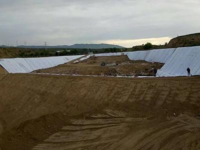兰州防水毯在海晏垃圾填埋厂中的案例