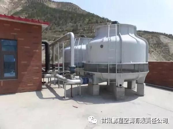 甘肃鹏程空调公司安装的水冷螺杆机组+锅炉板换成功应用阿西娅项目