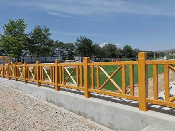 青海水泥仿木护栏安装