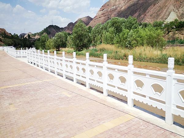 兰州仿大理石雕花护栏安装工程