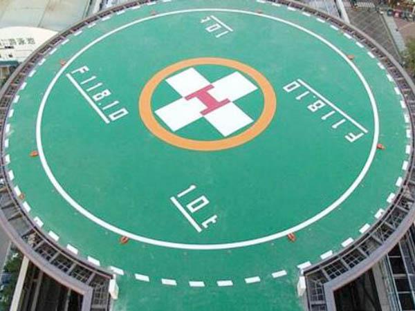 顶楼停机坪聚氨酯丙烯酸地坪施工-兰州军区总医院