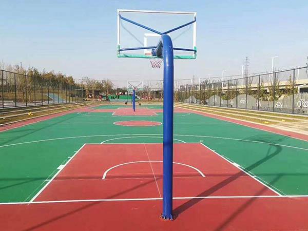 陇南市宕昌中学硅PU球场篮球场