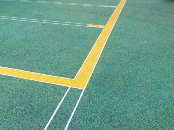 兰州安宁区小游园彩色透水地坪工程