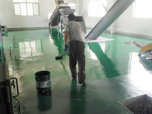 东乡县唐汪镇无害化垃圾处理站聚氨脂超耐磨树脂地坪