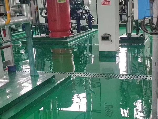 东乡县生活垃圾处理厂聚氨脂超耐磨树脂地坪