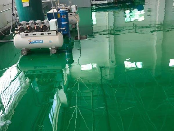 岷县自来水厂环氧自流平