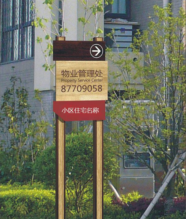 小區戶外標識牌