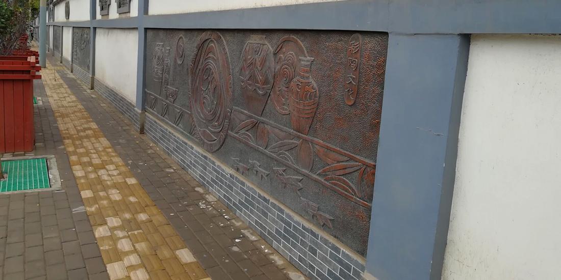 兰州景区浮雕文化墙