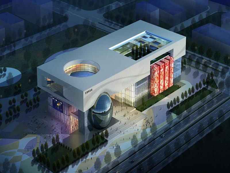 甘肃科技馆主体钢结构