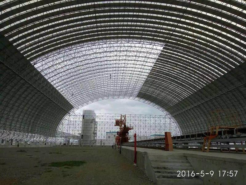 """江苏南通电厂""""上大压小""""新建工程干煤棚网架"""