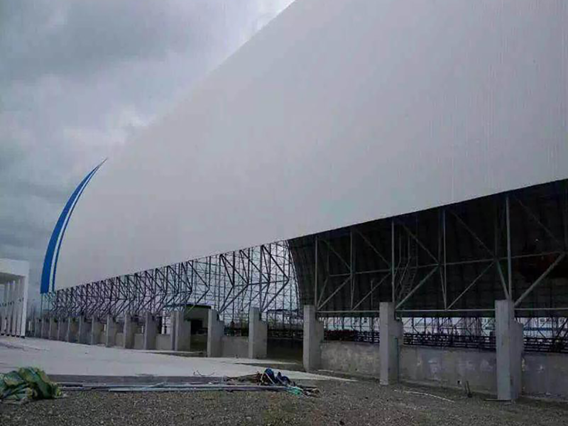 新疆楚星能源五星热电联产干煤棚网架