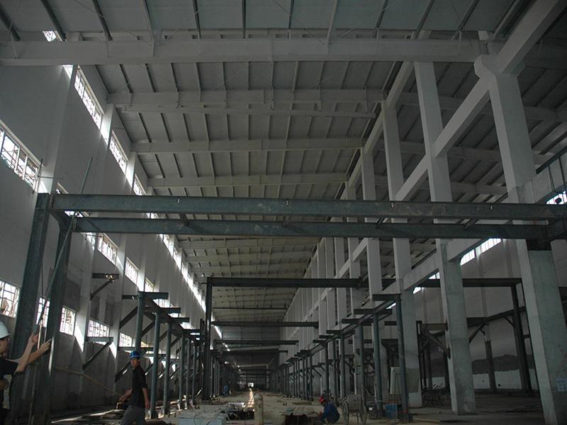 甘肃蓝星纤维有限公司厂房钢结构工程
