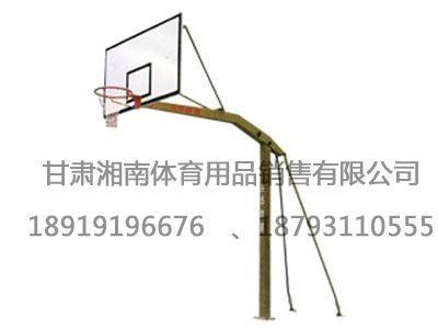 1016地埋式单臂篮球架
