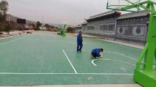 临夏市折桥镇慈王村室外塑胶篮球场