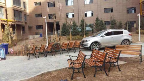 甘肃天露园林工程--户外公园座椅由湘南体育用品提供