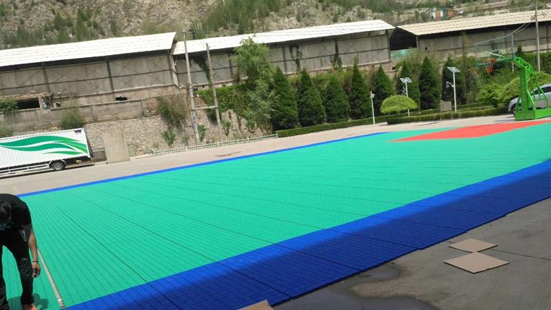 甘肅室外懸浮式籃球場