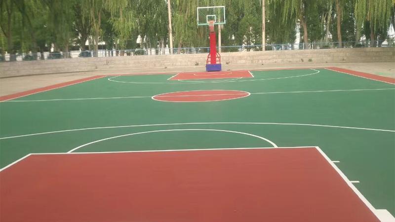 兰州中川机场篮球场安装铺设