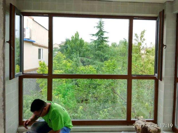 兰州金地花园隔音窗安装实景