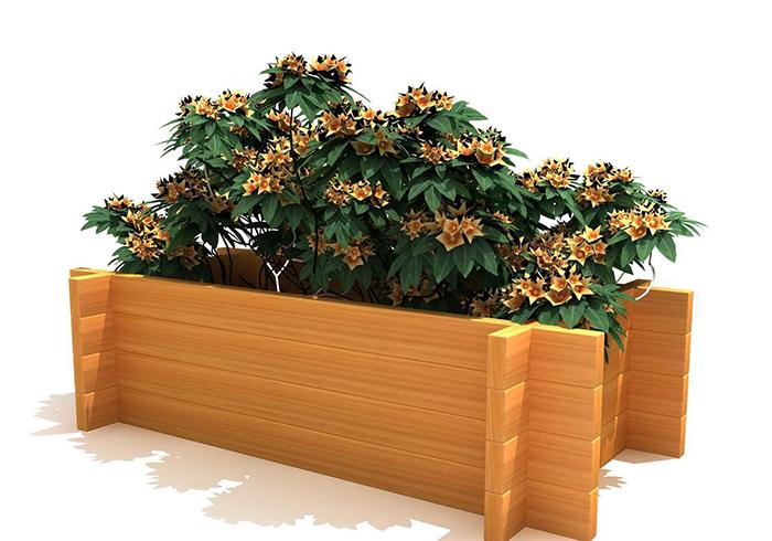 武威某小區安裝防腐木花箱