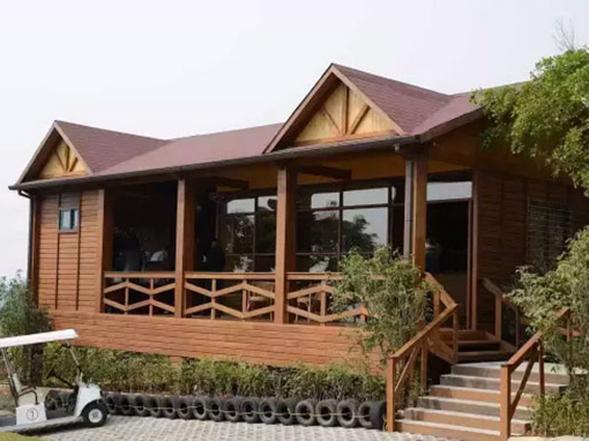 嘉義戈壁公園防腐木板屋裝置
