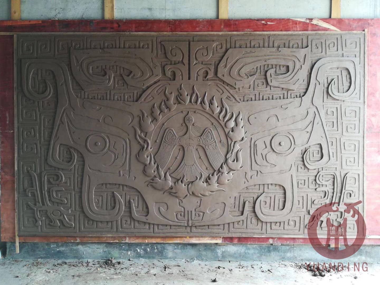 兰州影视城大厅浮雕