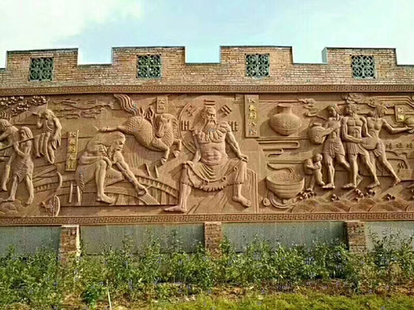 砂岩浮雕文化墙