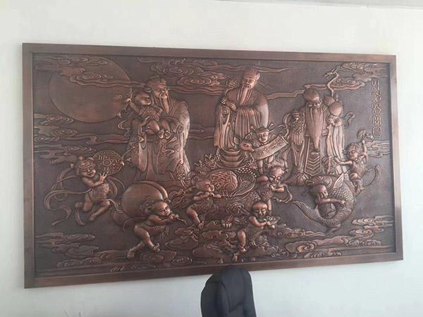 锻铜浮雕壁画