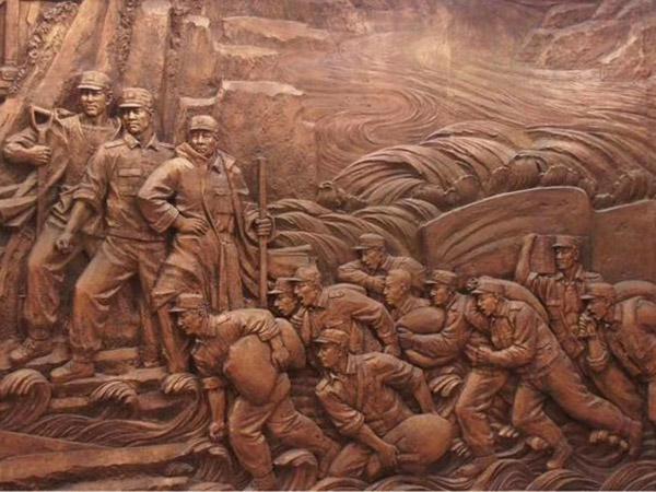 人物锻铜浮雕