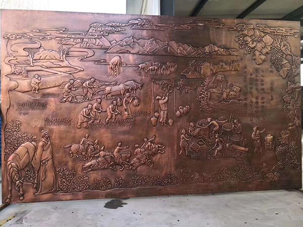 锻铜历史浮雕