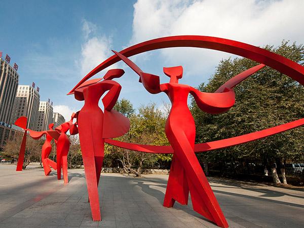 兰州玻璃钢抽象雕塑