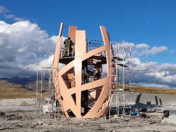甘南藏族自治州玛曲县欧拉乡景区不锈钢观景平台betway 88体育设计制作
