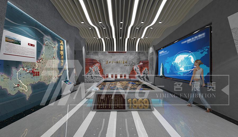 劉家峽水電廠大型企業文化室展廳設計