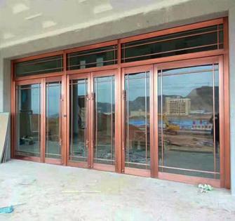 兰州不锈钢玻璃门工程
