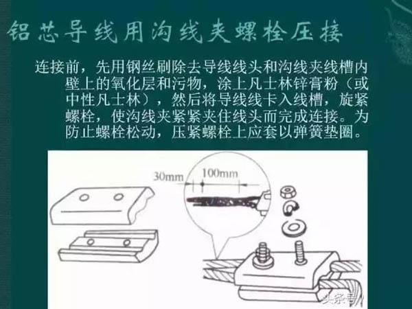 鋁芯導線用勾線夾螺栓壓接