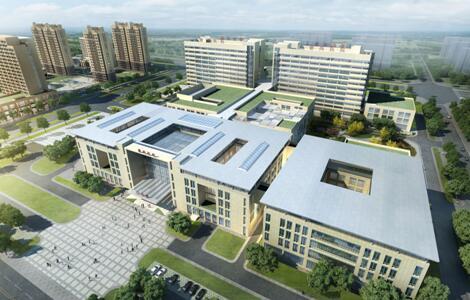 咸阳德商医院项目中空塑料模板使用