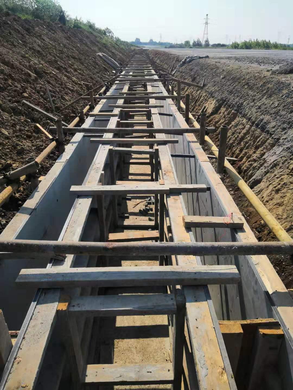 中空塑料模板在湖北十堰项目部排水沟使用案例