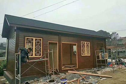 重庆防腐木木屋安装