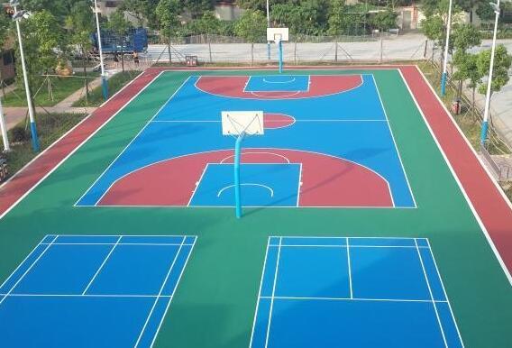 丙烯酸籃球場