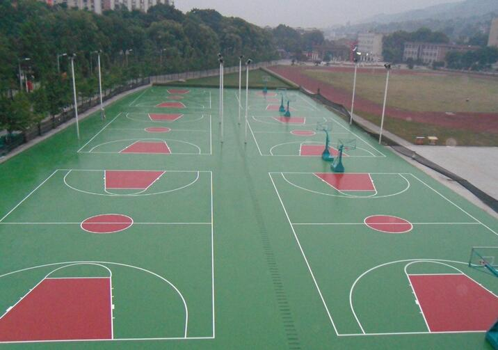 貴陽硅PU籃球場