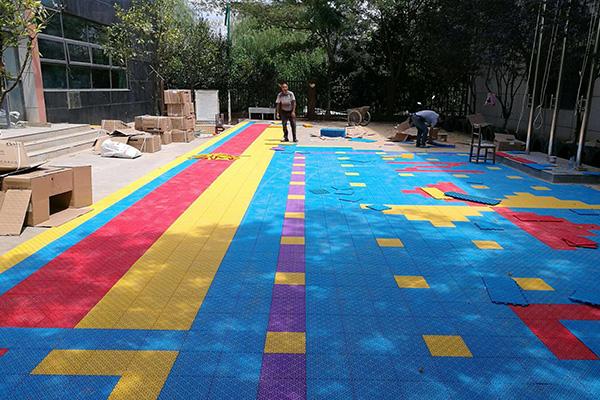 貴州懸浮塑膠拼裝地板