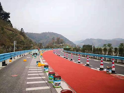 彩色防滑路面地坪施工