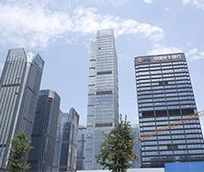 貴州金融城——橋架施工案例