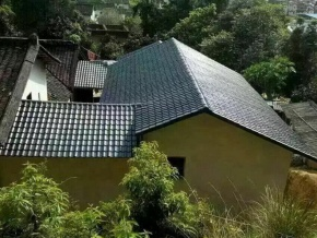 农村屋顶用高亿美树脂瓦施工效果展示!