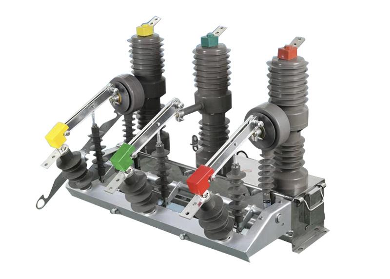 ZW32-12G/630-20户外高压真空断路器手动带隔离刀闸
